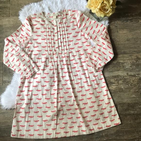 038ad0552 kate spade Dresses | Girls Long Sleeve Fox Print Dress | Poshmark